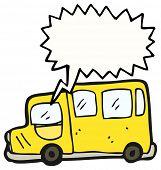 cartoon yellow bus