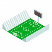 Soccer Stadium Icon. Isometric Of Soccer Stadium Vector Icon For Web Design Isolated On White Backgr poster