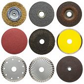 Abrasive disks for metal and stone grinding, cutting.