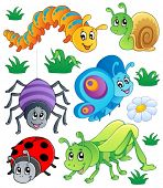 Cute bugs collection 1 - vector illustration.