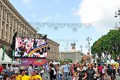 Euro2012 View At Part Of Official Fan Zone On Krestchatick Ph2