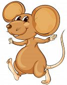 pic of buck teeth  - Cute cartoon mouse on white  - JPG