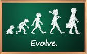 Evolution on a detailed blackboard - EPS VECTOR format also available in my portfolio.