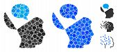 Open Mind Opinion Mosaic Of Round Dots In Different Sizes And Shades, Based On Open Mind Opinion Ico poster
