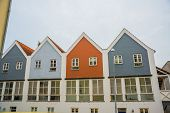 Odense, Denmark: Beautiful Multicolored Facades Of Buildings poster