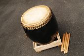 Japanese Wooden Drum