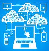 red social, la comunicación en las redes informáticas mundiales. portátil tablet teléfono conexión