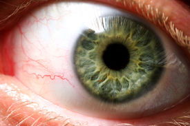 stock photo of extreme close-up  - someone is giving you the evil eye - JPG