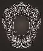 Ornate Oval Retro Frame