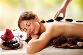 image of black woman spa  - Spa Stone Massage - JPG
