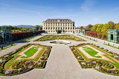 stock photo of schoenbrunn  - Palace Gardens at Vienna - JPG