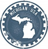 Selo vintage Michigan EUA Estado