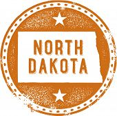 Vintage North Dakota USA State Stamp