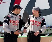 LOS ANGELES - MAR 23:  Jesse Metcalfe, Brett Davern at the 37th Annual Toyota Pro/Celebrity Race tra