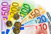 stock photo of european  - euro money banknotes of the european union - JPG