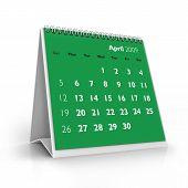 Calendário de 2009. Abril