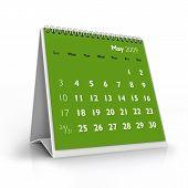 Calendário de 2009. Maio