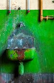 Old industrial lavabo