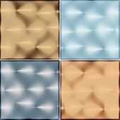 Four Metal Tile Isolated On A White Background