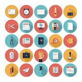 Business And Office Flat Icons Set