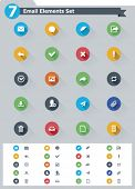 Flat email icon set