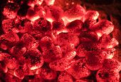 Hot sparking live-coals