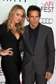 LOS ANGELES - NOV 13:  Christine Taylor, Ben Stiller at the