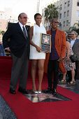 LOS ANGELES - NOV 13:  Clive Davis, Jennifer Hudson, Raphael Saadiq at the Jennifer Hudson Hollywood
