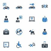 Hotel Services and Facilities Icons Set 1 - Blue Series