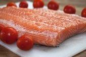 Raw Salmone Fillet