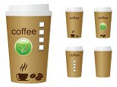 Set of coffee cups, vector