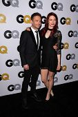 LOS ANGELES - NOV 12:  Chris Hardwick, Chloe Dykstra at the GQ 2013