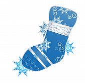 Vector illustration of christmas stocking