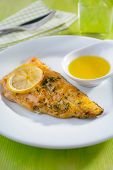 Roasted Arctic char on a plate