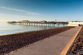 Paignton beach Devon England near tourist destinations of Torquay and Brixham