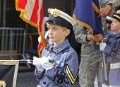 Young Cadet awaits his turn to march