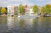 Cityscenic from Amsterdam at the Amstel in the Netherlands