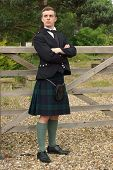 Handsome Young Scotsman In A Kilt