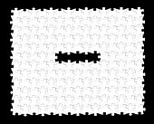 vector white puzzle