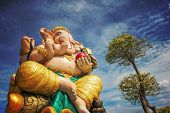 stock photo of ganesh  - Many people on Thailand worship Lord Ganesh for achievement in art and performances - JPG