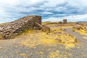 image of urn funeral  - Funerary towers in Sillustani Peru South America - JPG