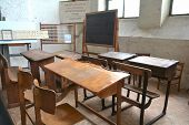 an old classroom in an old school