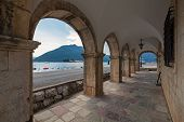 Archway In The Old House In Perast Town, Montenegro