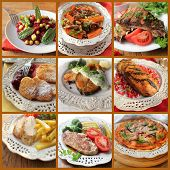 collage of various meals