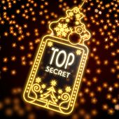 Noble Christmas Label With Top Secret Sign