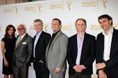 LOS ANGELES - APR 9:  Tom Bergeron and Executives at the An Evening with