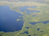 aerial view of the wetland known as the sud, and nile river, south sudan