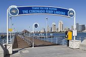 Coronado Ferry Pier & San Diego, California