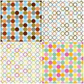 Round Shapes Seamless Patterns