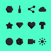 Abstract Paper Icons